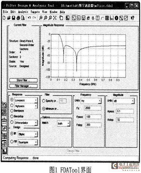 基于谐波检测中的数字低通滤波器的MATLAB设计