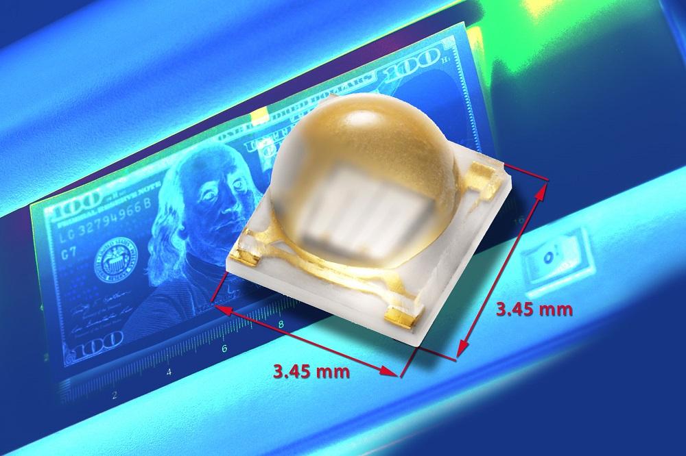 Vishay新款带硅树脂透镜陶瓷基底高功率UVLED具有超长使用寿命