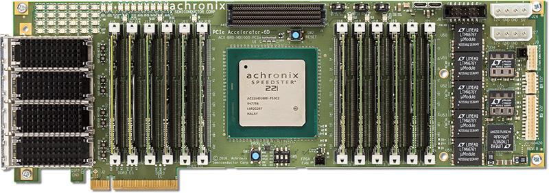 Achronix针对数据中心应用推具有最高FPGA存储带宽的PCIe加速板