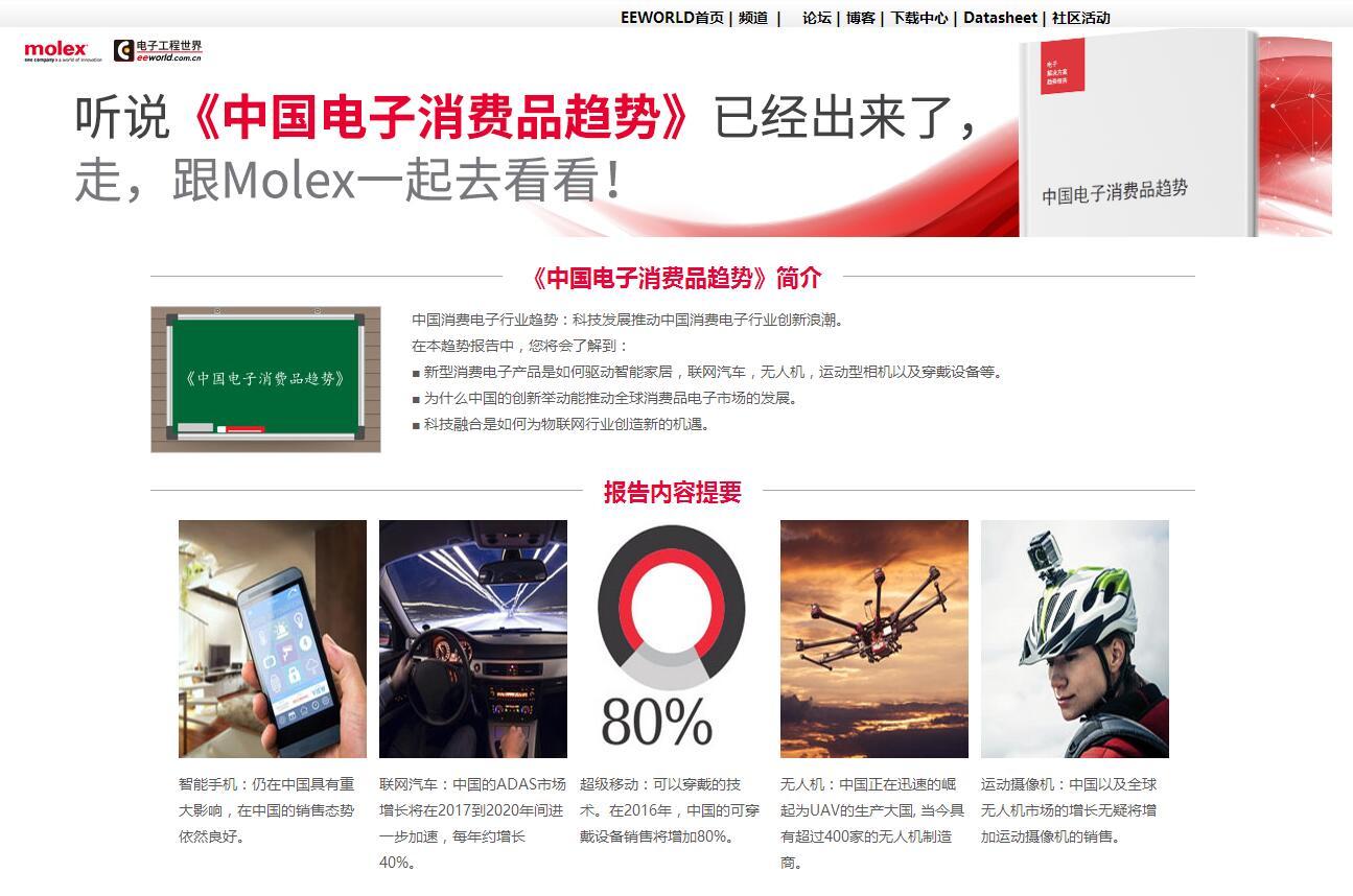 走,跟Molex一起去看《中国电子消费品趋势》!