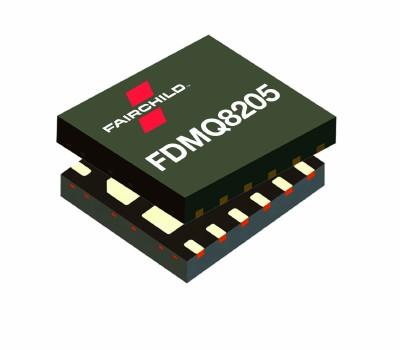 Fairchild發布了FDMQ8205,增強了 GreenBridge? 4顆MOSFET有源橋技術