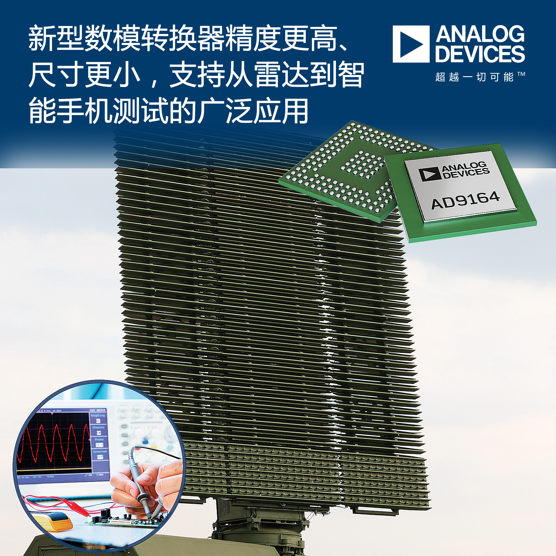 ADI推出高精度新型数模转换器AD9164