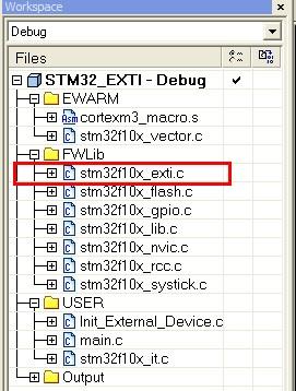 STM32 之 EXTI - wanghengzhi@126 - 代码豆子