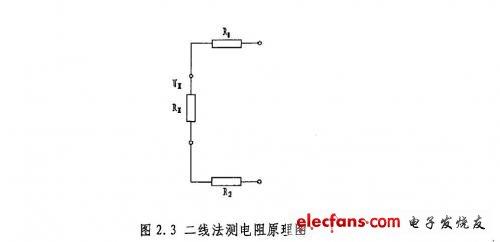 二线法测电阻原理图