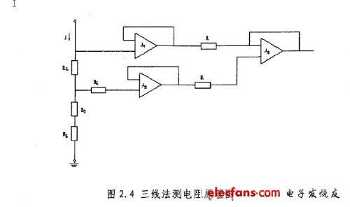 三线法测电阻原理图