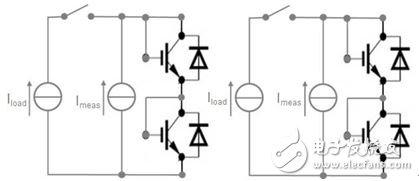 图 6:用于功率循环和瞬态热测量的 IGBT 电气连接。
