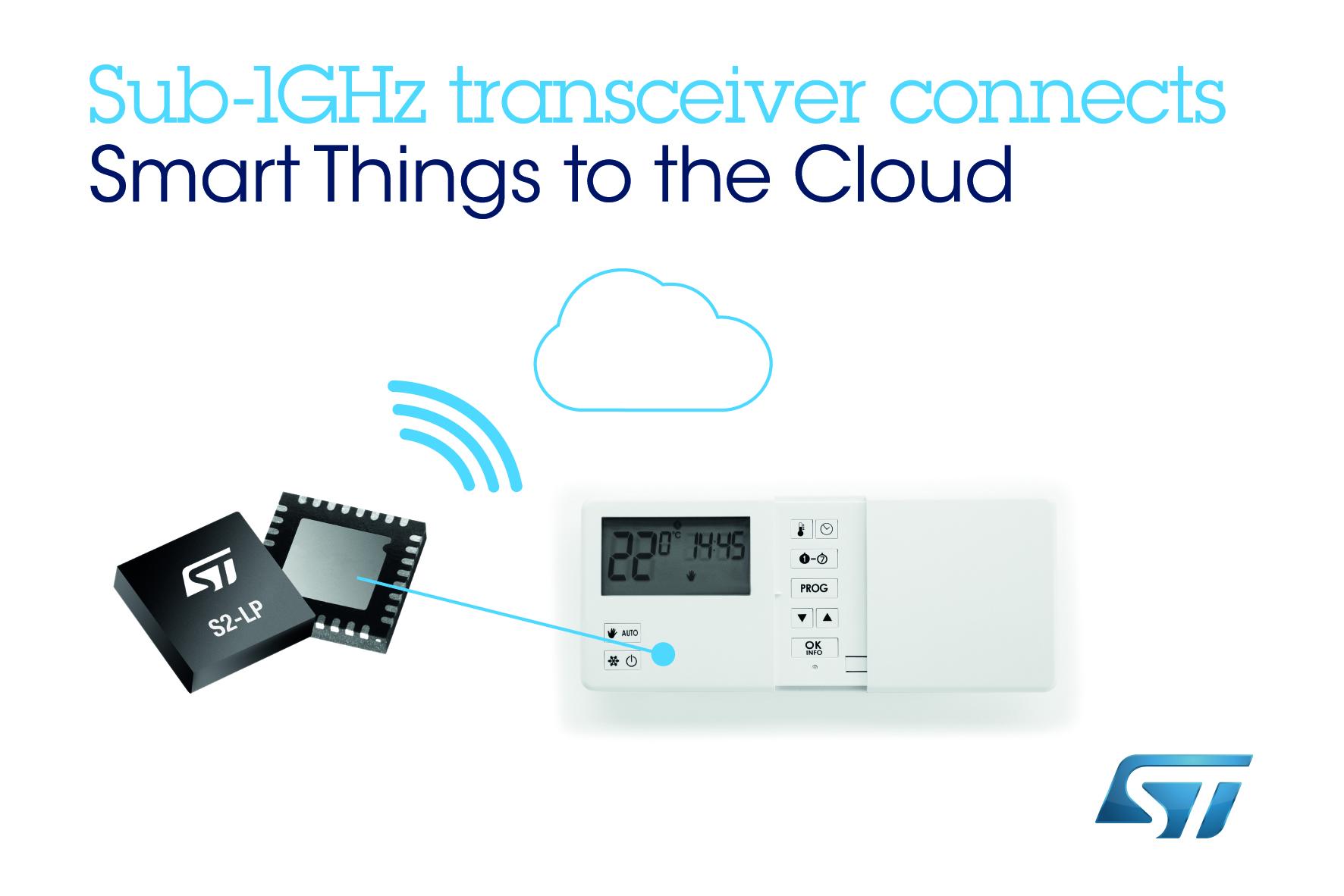 意法半导体推出低功耗远距离射频芯片,扩大物联网覆盖范围