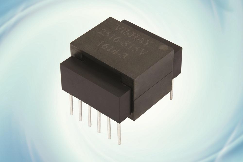 Vishay推出成本和封装尺寸优于传统的混合式平面变压器