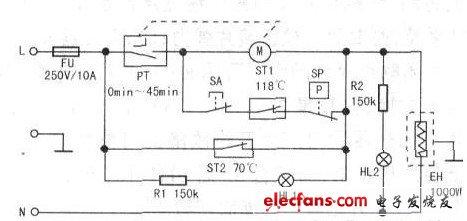 飞鹿电压力锅(TL30-700B)原理分析