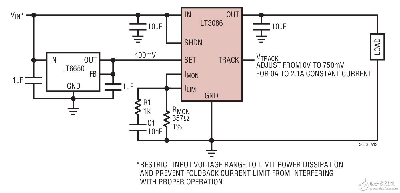 可调型压控电流源电路图