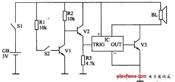 简易坐姿提醒器电路两例