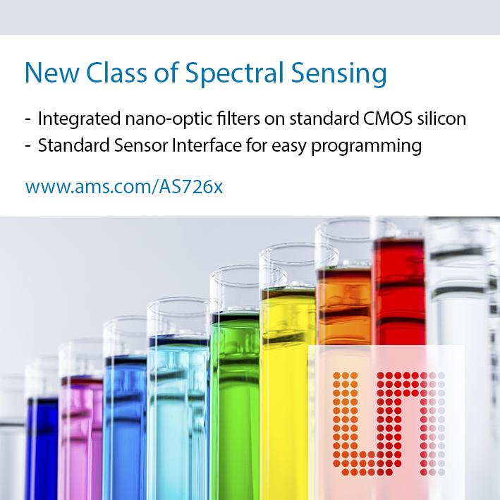艾迈斯推出晶圆滤波技术的数字多通道光谱传感器芯片