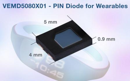Vishay高速PIN光电二极管帮助可穿戴设备实现准确的信号检测和薄形传感器设计