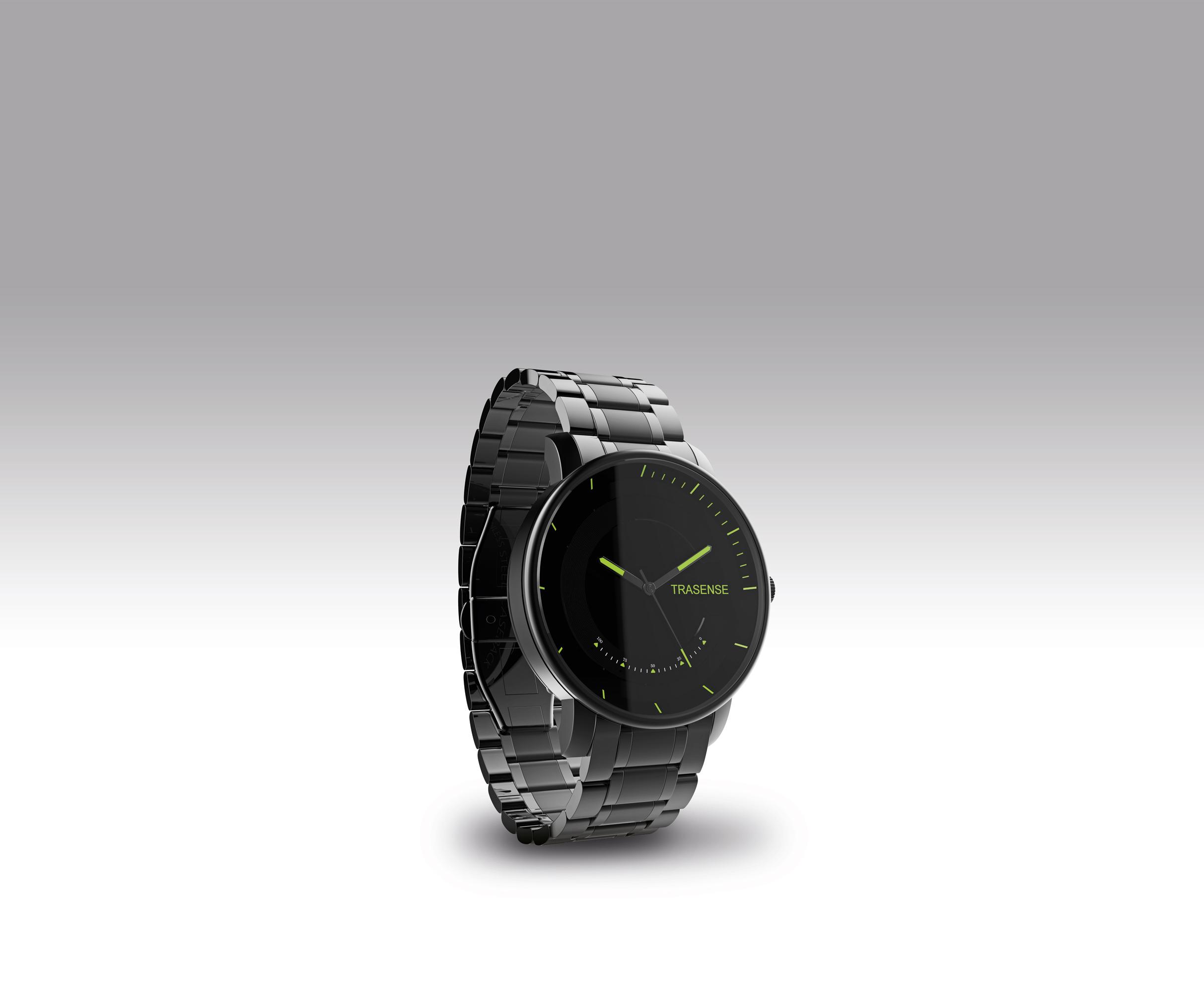 低功耗蓝牙智能运动手表配合iOS和安卓智能手机App记录距离