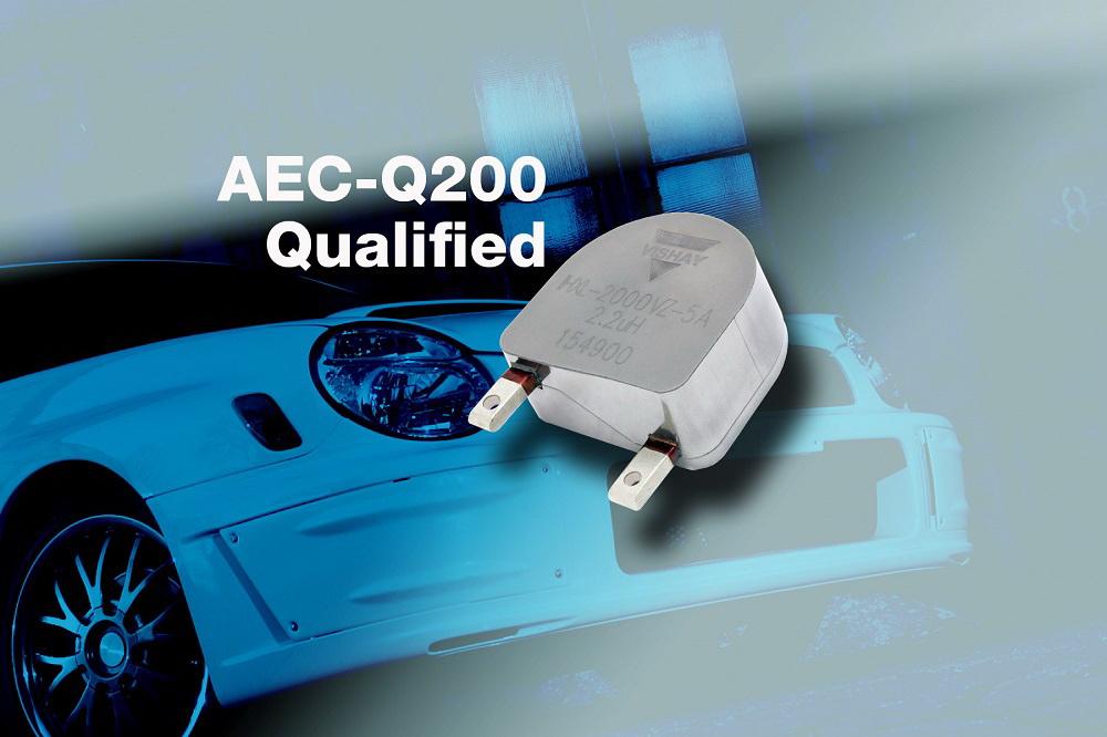 Vishay通过AEC-Q200认证新款电感器在业内首次实现125A连续电流