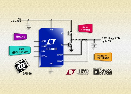 60V 低 IQ 同步降压型控制器