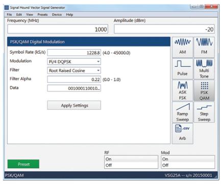 100MHz带宽的经济型矢量信号源新选择
