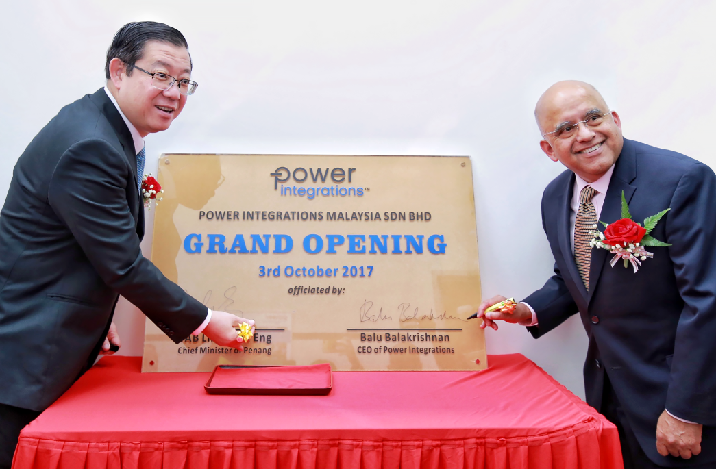 Power Integrations在马来西亚设立生产支持与研发中心