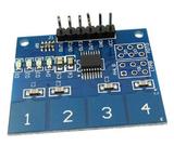 利用STM32外部中断驱动四路数字触摸感应传感器模块