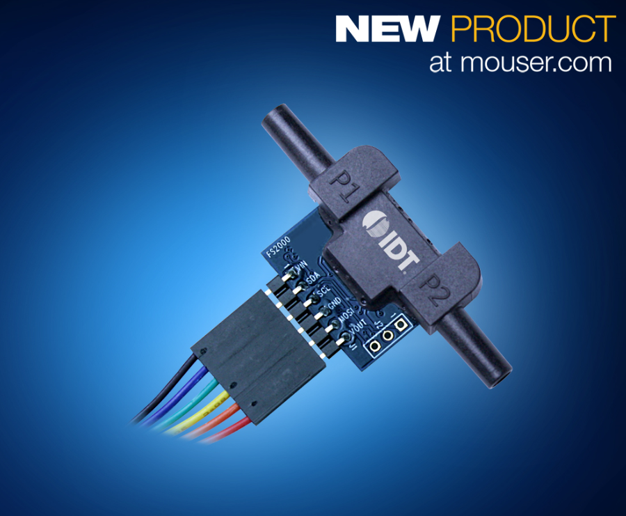 IDT创新型固态MEMS FSx012流量传感器模块在贸泽开售