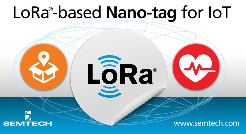 Semtech发布首款LoRa技术的物联网应用一次性微纳型电子标签