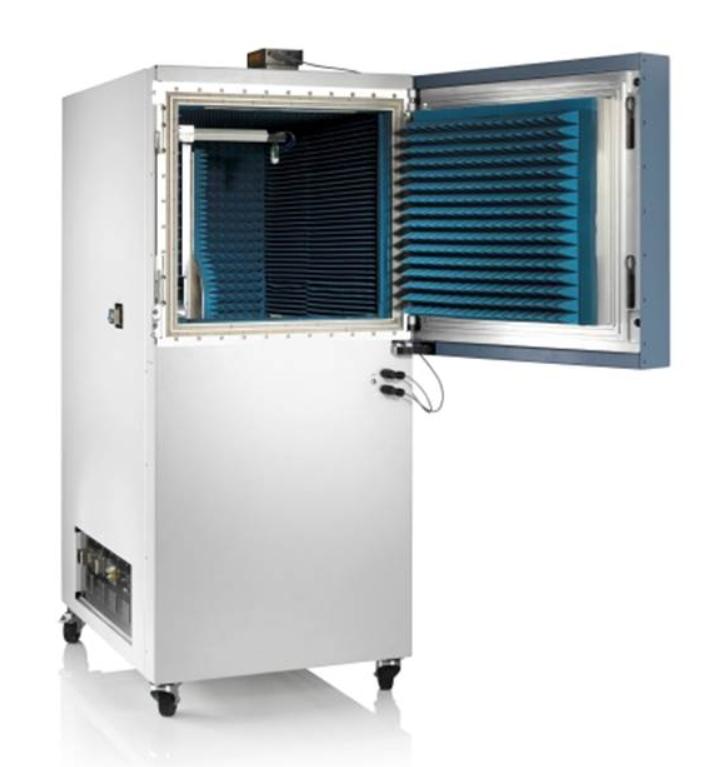 R&S展示首台可应用于5G天线和收发器的可移动OTA暗室