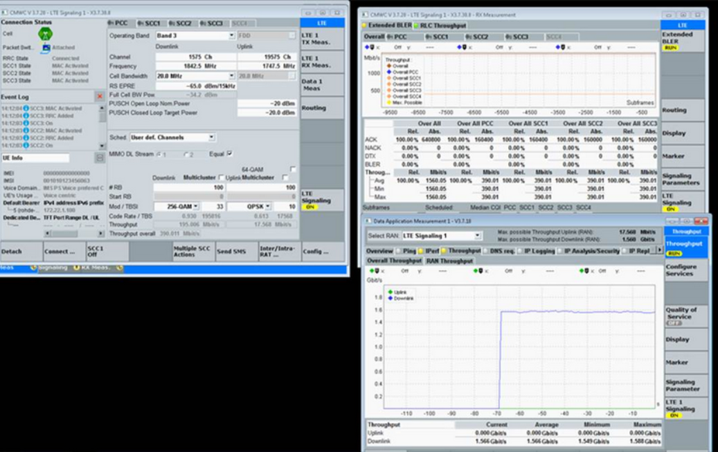 罗德与施瓦茨联手华为演示最新4.5G芯片平台1.6Gbps下载