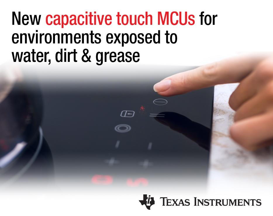 TI新型MCU将触摸控制技术引入成本敏感型工业应用