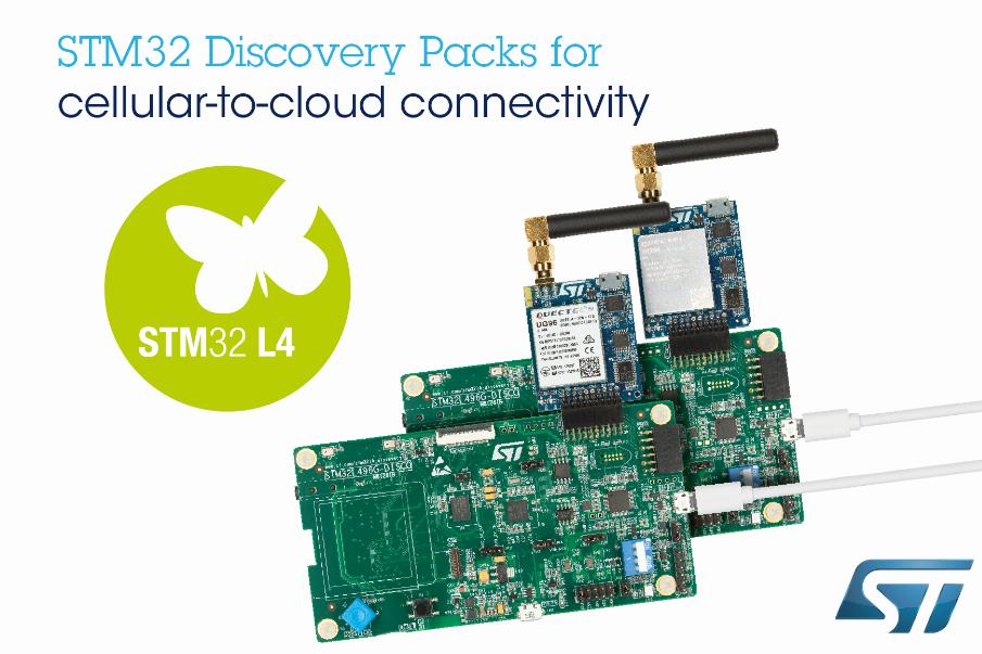 意法半导体的新STM32探索套件简化移动网至云端连接