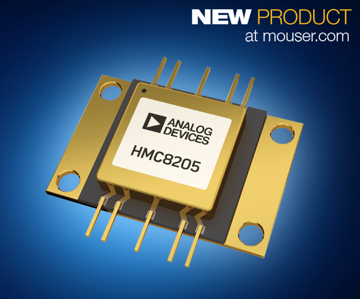 贸泽开售Analog Devices HMC8205 GaN功率放大器