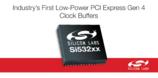 业内首款低功耗PCI Express Gen 4缓冲器提升功耗及性能标杆