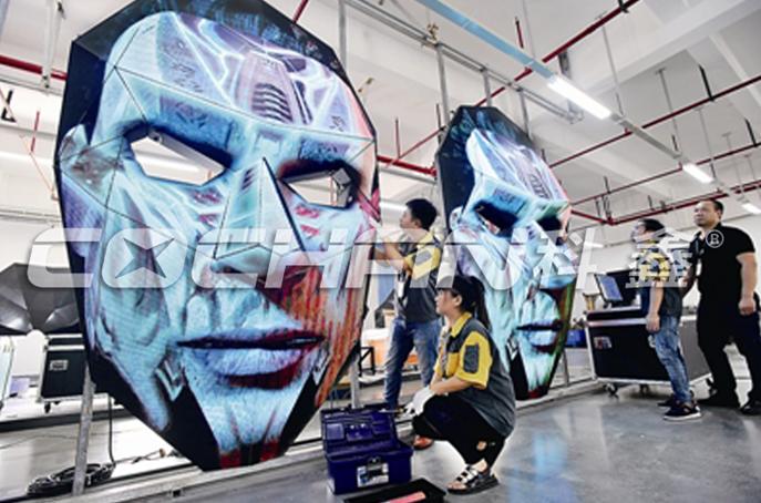 脸谱造型ART艺术led屏问世,创意再拔新高度