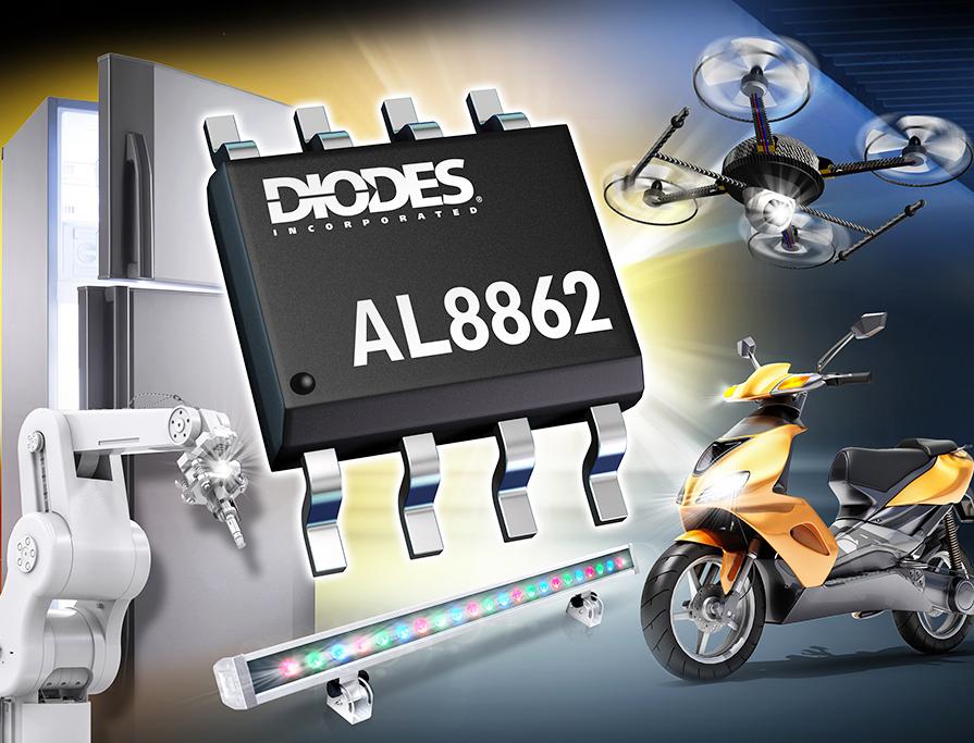 Diodes 公司 60V/1A 降壓 LED 驅動器為商業照明增添調光功能