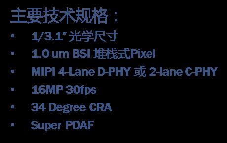 HiDM(德淮)HR1630助推千元手机摄像头向16MP全面升级