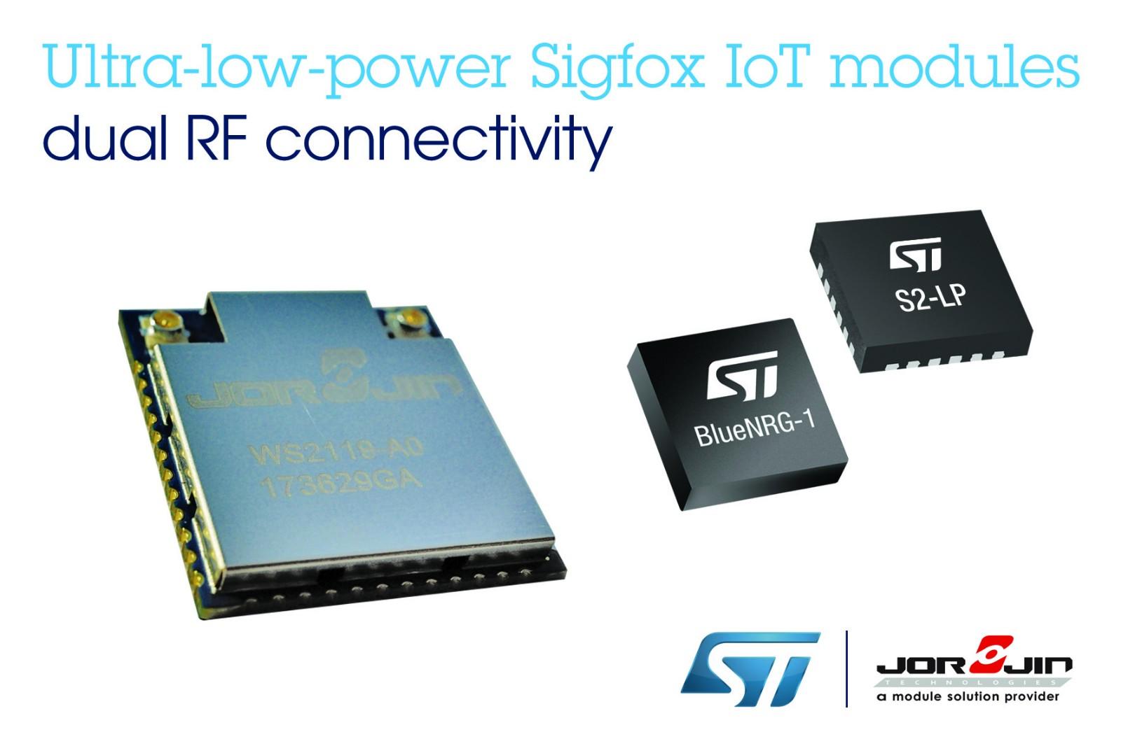 意法半导体与佐臻联合推出低功耗Sigfox与BLE双功能无线模块