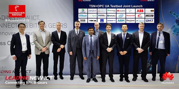 华为联合伙伴发布覆盖6大场景的TSN+OPC UA测试床