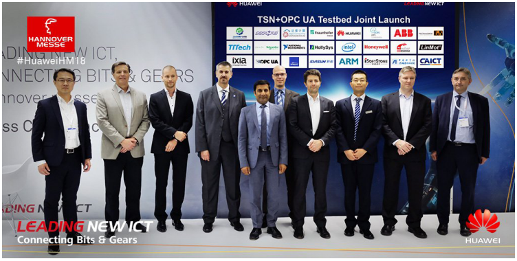 华为联合NI等伙伴发布覆盖6大场景的TSN+OPC UA测试床