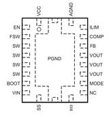 HT7178带输出关断的20V、12A全集成同步升压转换器