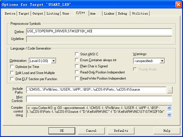 KeilMDK4.22 编译STM32工程警告:warning: #223-D