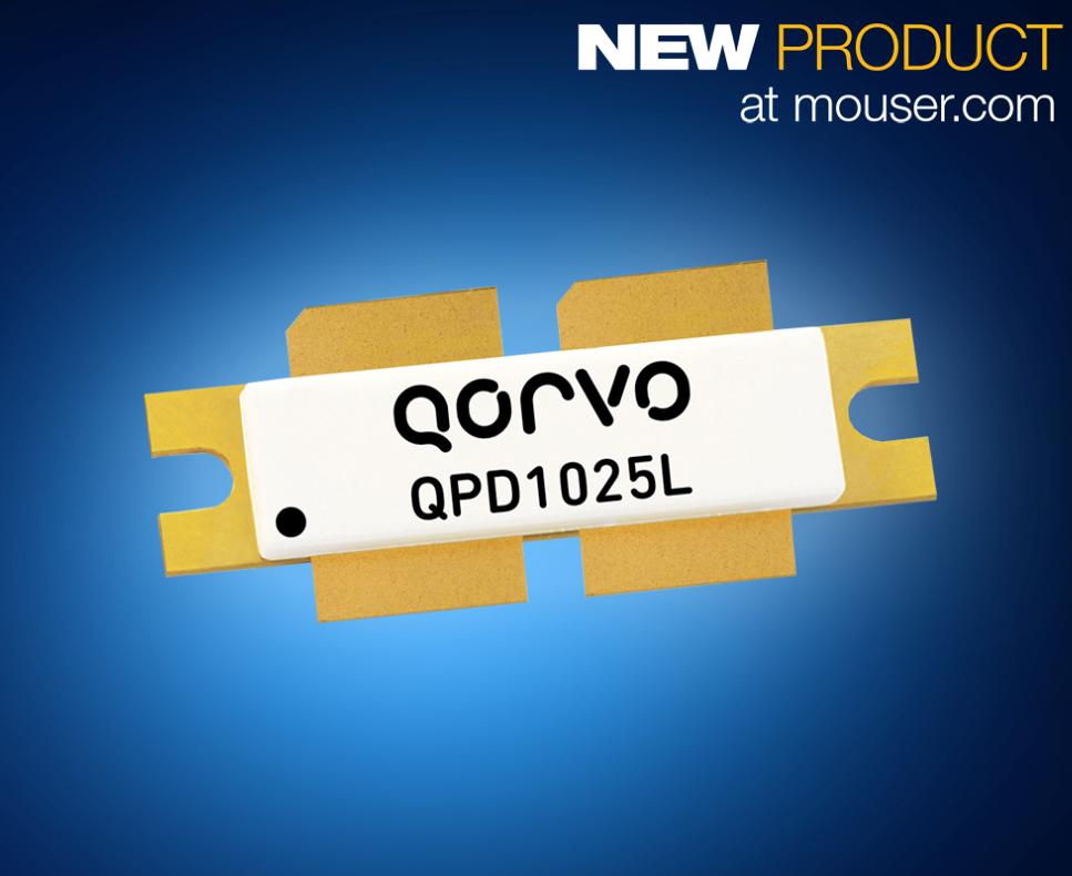 贸泽备货Qorvo 1800W QPD1025L碳化硅基氮化镓晶体管