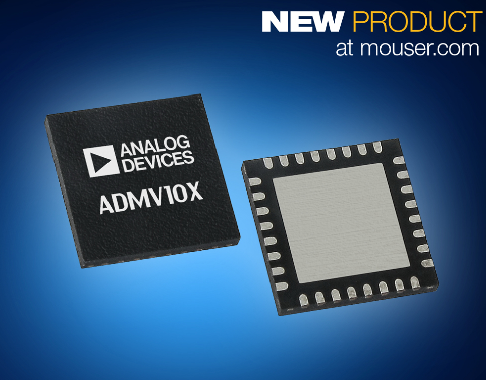 Analog Devices GaAs ADMV10x转换器在贸泽开售