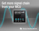 新型MSP430™微控制器为感测应用提供可配置的信号链元件
