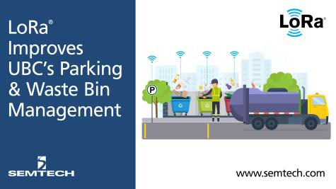 Semtech的LoRa技术改善了加拿大大学的停车拥堵和垃圾管理系统