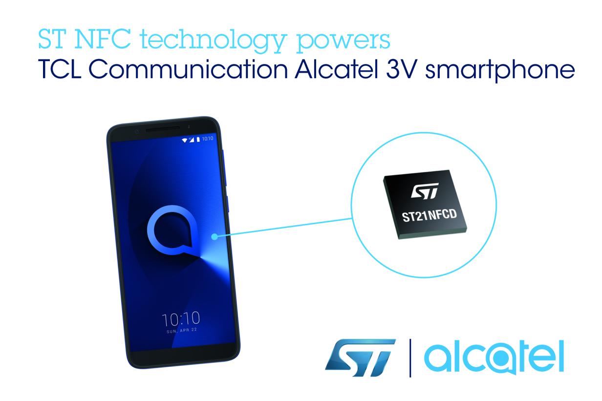 TCL通讯Alcatel 3V智能手机选用意法半导体NFC技术