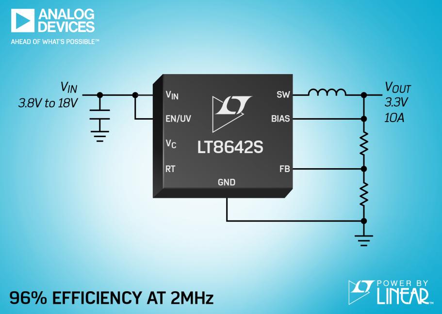 ADI 推出同步降压型 Silent Switcher 2
