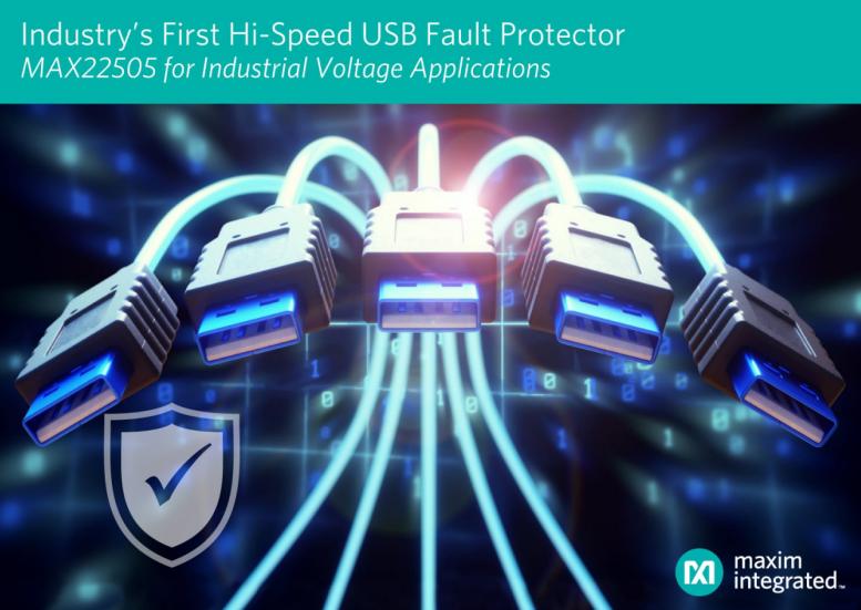 美信提供高速USB和工業端口故障保護方案