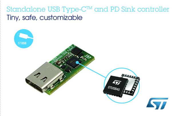 让设备轻松升级的独立式USB Type-C 输电控制器