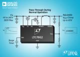 ADI发布过压和过流保护功能的开关浪涌抑制器