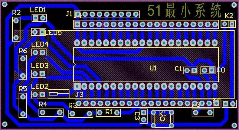 51单片机计数_51单片机最小系统原理图、PCB及组成-电子工程世界