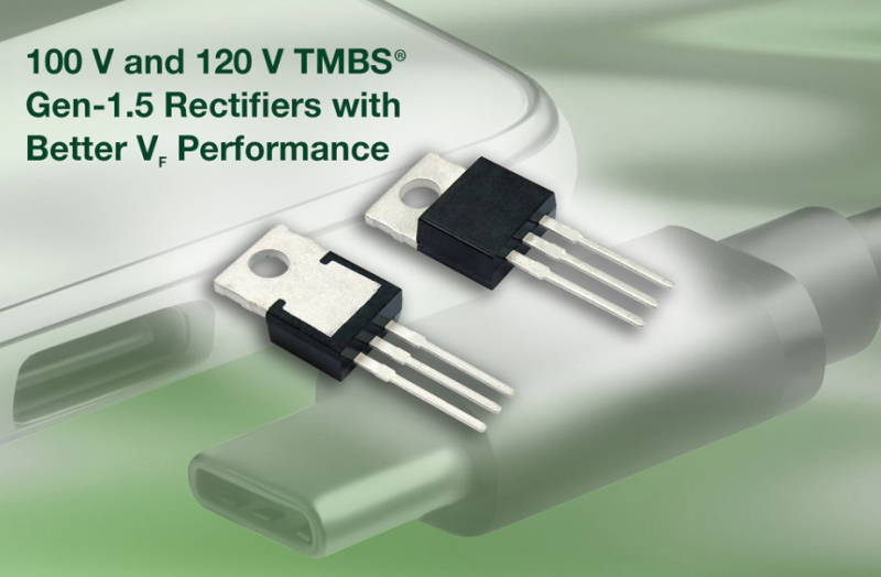 降低功率损耗并提高效率,Vishay全新100V和120V TMBS®整流器